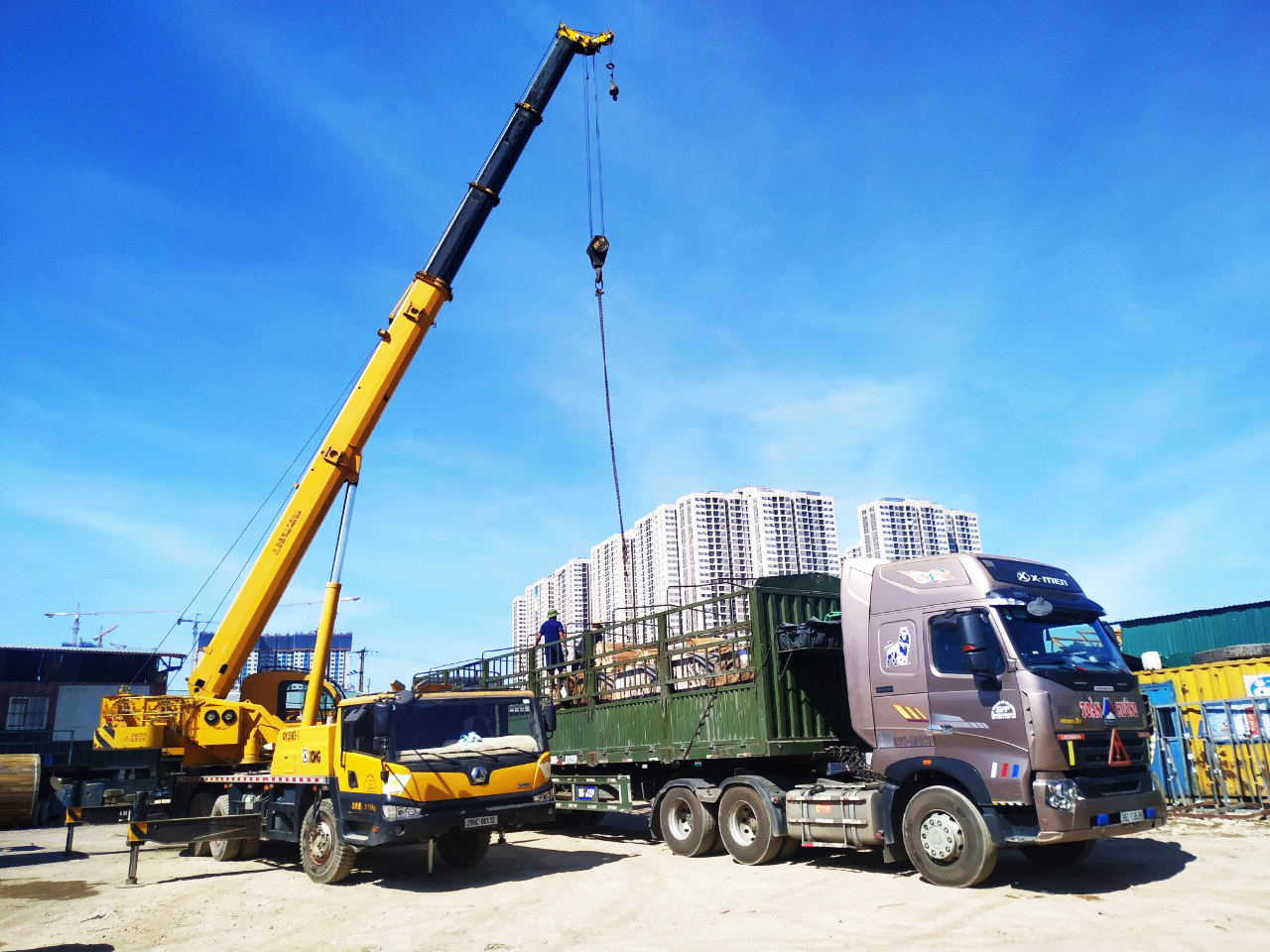 cho thuê xe cẩu chuyên dụng 35 tấn